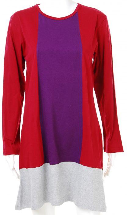 T Shirt Muslimah Haleema H901B Maroon/Purple 2