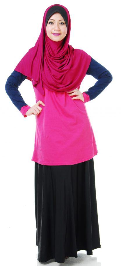 T Shirt Muslimah Haleema H907B Pink 1
