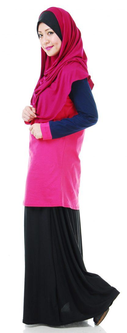 T Shirt Muslimah Haleema H907B Pink 3