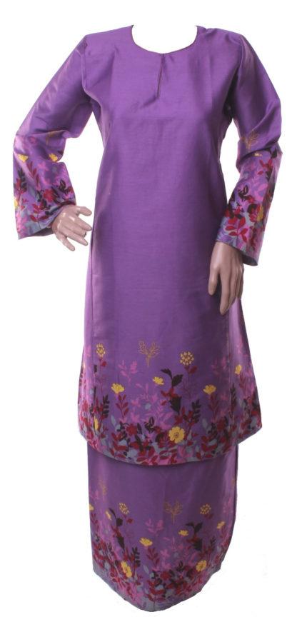 BKK43 Baju Kurung Pahang Cotton Tidak Bermanik
