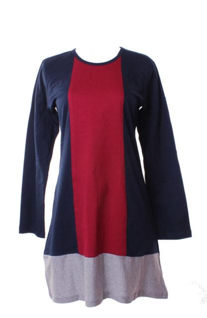 T Shirt Muslimah Haleema H901A Blue/Maroon