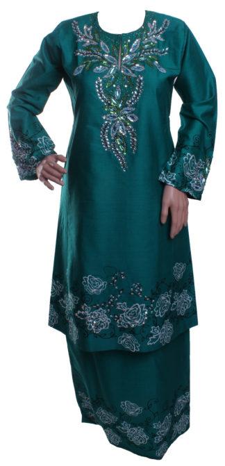 Baju Kurung Pahang Kapas Manik Eksklusif BKM33