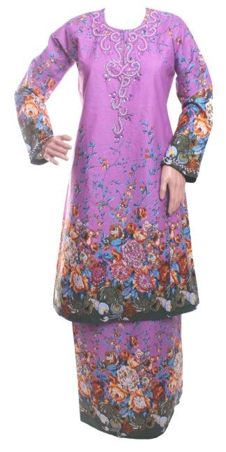 Baju Kurung Pahang Kapas Manik Eksklusif BKM40