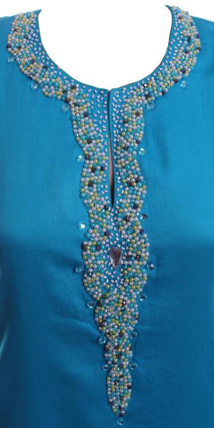 Baju Kurung Pahang Kapas Lace Bermanik  BKP18