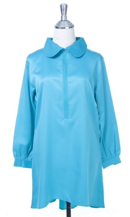 Satin Blouse Muslimah Lia05 Light Blue 1