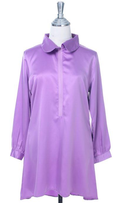 Satin Blouse Muslimah Lia01 Light Purple 1