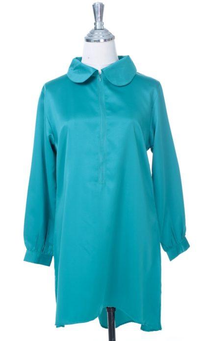 Satin Blouse Muslimah Lia02  Green 1