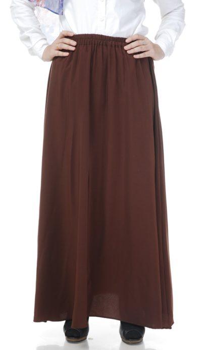 Skirt Labuh Muslimah Lara01 Dark Brown 3