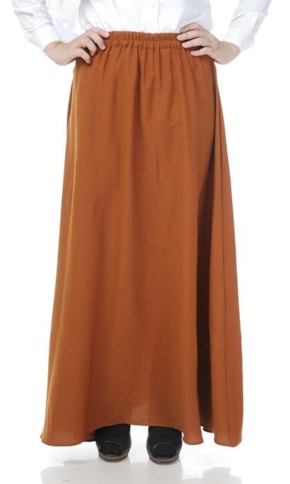 Skirt Labuh Muslimah Lara02 Rust Brown 1