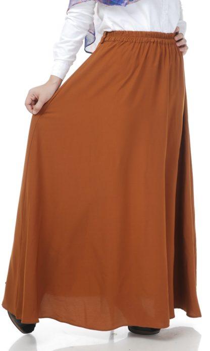 Skirt Labuh Muslimah Lara02 Rust Brown 3