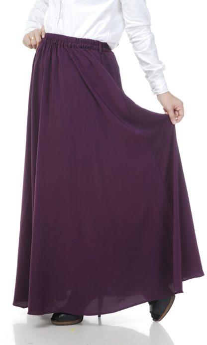 Skirt Labuh Muslimah Lara05 Dark Purple 1