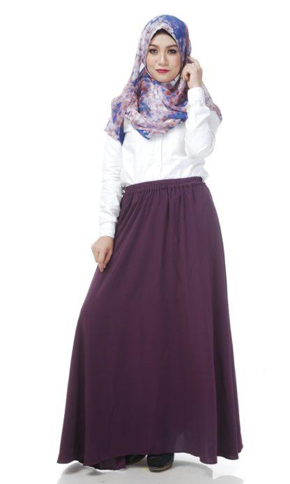 Skirt Labuh Muslimah Lara05 Dark Purple 2
