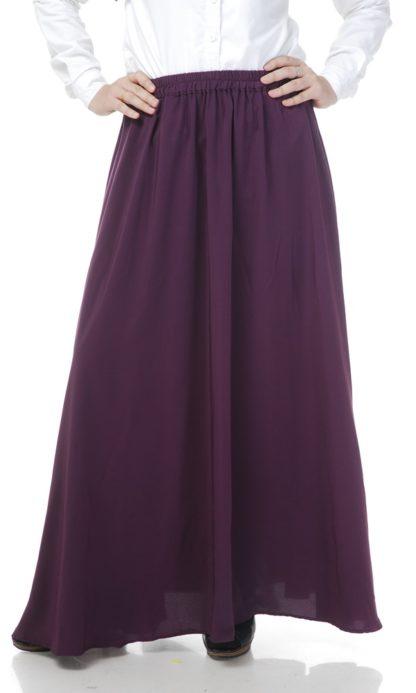 Skirt Labuh Muslimah Lara05 Dark Purple 3