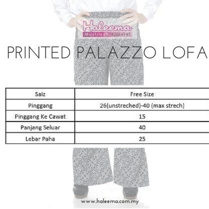 Seluar Palazzo Muslimah Printed Lofa05 4