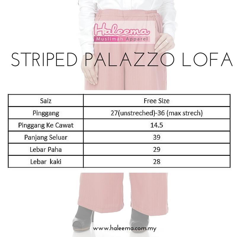 Ukuran Palazzo Lofa Striped