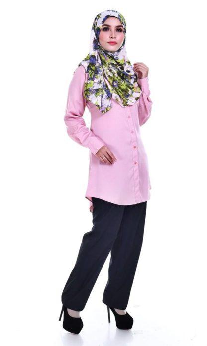 Shira21 Kemeja Wanita Pink 3