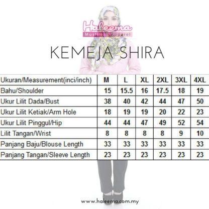 Shira33 Kemeja Wanita Blue Black 4
