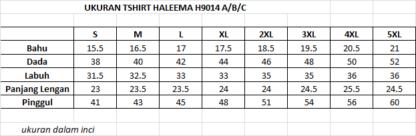 T Shirt Muslimah Haleema H9014C 4