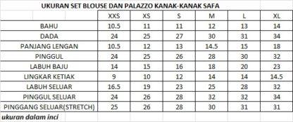 SAFA04 Set Blouse dan Palazzo Kanak Kanak Safa 3