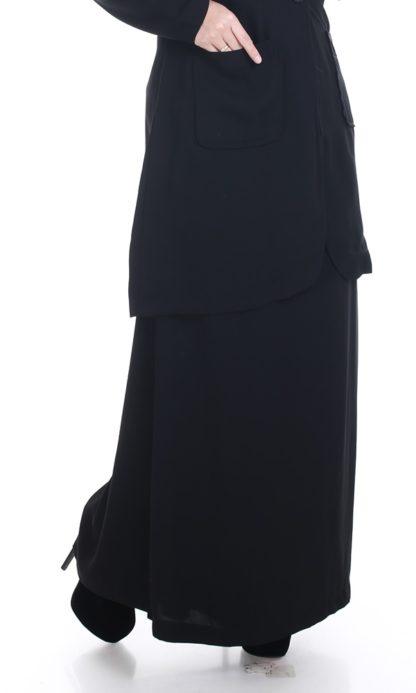 Husna01 Skirt Labuh A Line Officewear Black 1