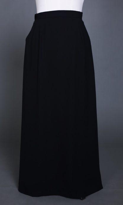 Husna01 Skirt Labuh A Line Officewear Black 3