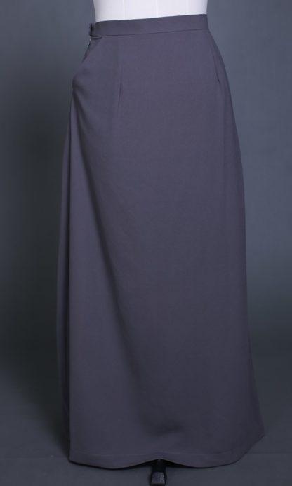 Husna03 Skirt Labuh A Line Officewear Grey 3