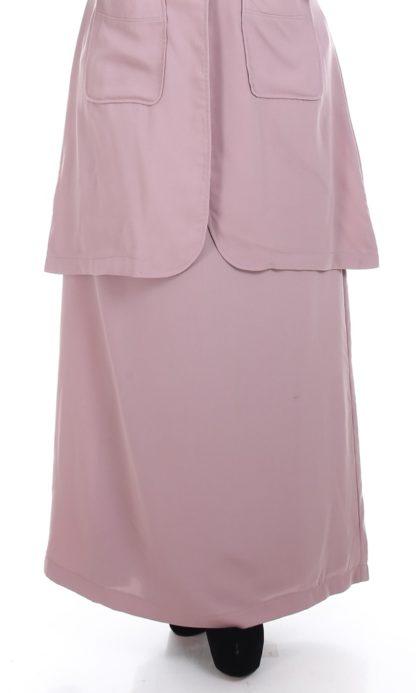 Husna04 Skirt Labuh A Line Officewear Moccha 2
