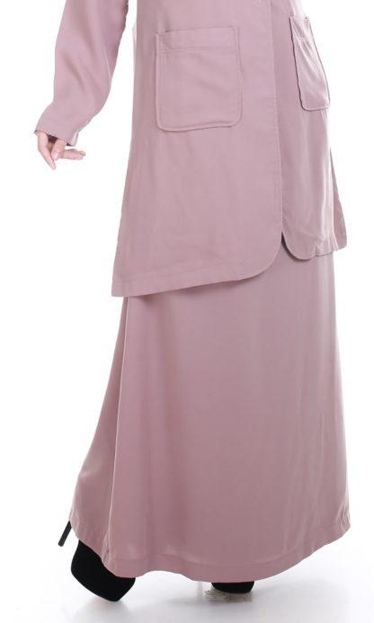 Husna04 Skirt Labuh A Line Officewear Moccha 1