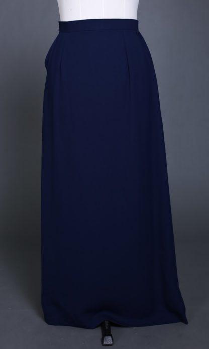 Husna02 Skirt Labuh A Line Officewear Navy Blue 3