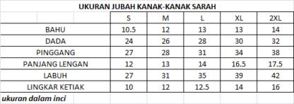 SARAH02 Jubah Linen Kanak Kanak Sarah 3