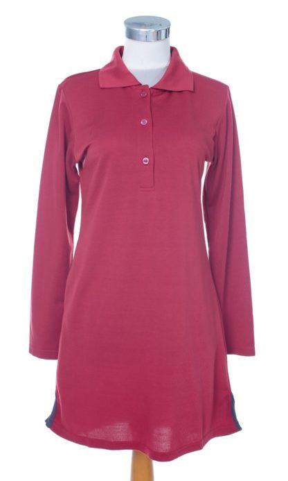 T Shirt Muslimah Haleema H9016C Maroon 2