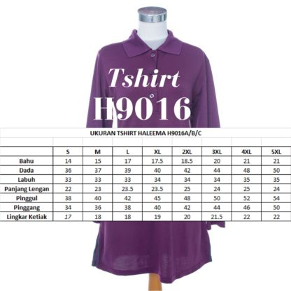 T Shirt Muslimah Haleema H9016B Purple 4