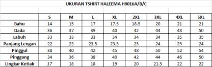 T Shirt Muslimah Haleema H9016A Grey 3