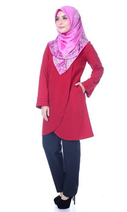 Raisya05 Tulip Blouse Red 1