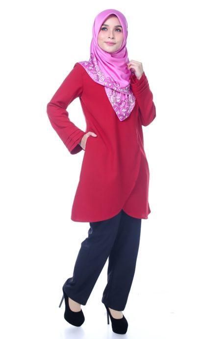 Raisya05 Tulip Blouse Red 5