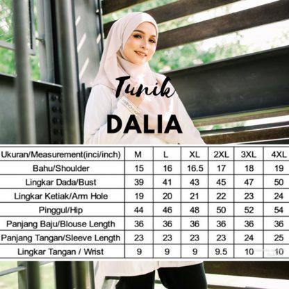 Dalia05 - Tunik Blouse Muslimah Cotton Labuh Oren 6