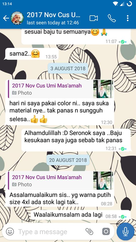 Mencari Blouse Muslimah Cotton Labuh Plus Size? 10