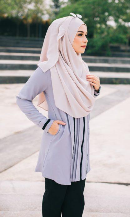 Nur02 Blouse Muslimah Kelabu 4