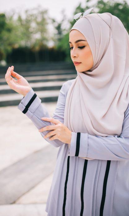 Nur02 Blouse Muslimah Kelabu 3