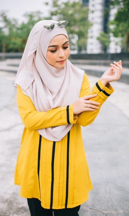 Nur01 Blouse Muslimah Mustard 3