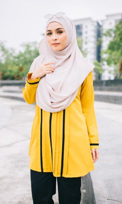 Nur01 Blouse Muslimah Mustard 4