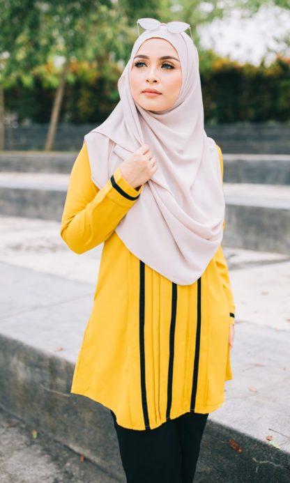 Nur01 Blouse Muslimah Mustard 5