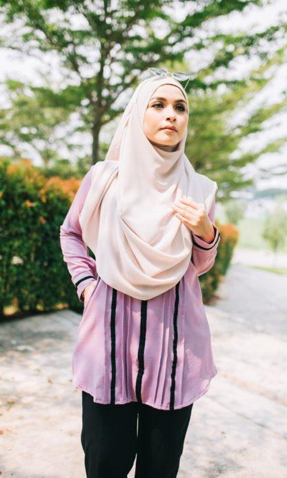 Nur04 Blouse Muslimah Ungu Muda 3