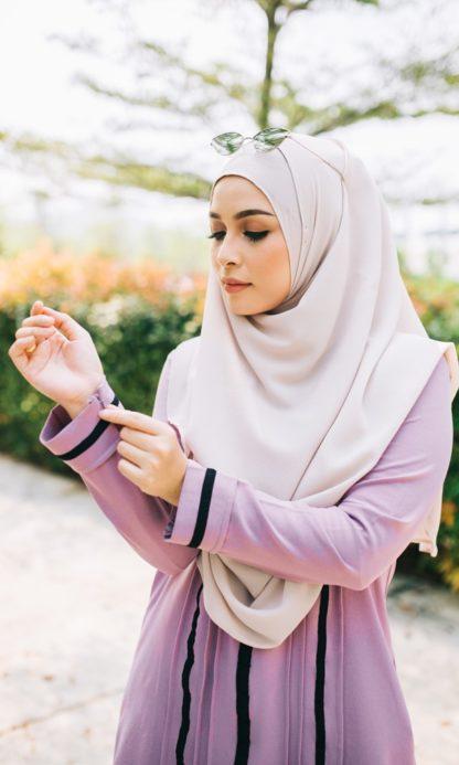 Nur04 Blouse Muslimah Ungu Muda 4