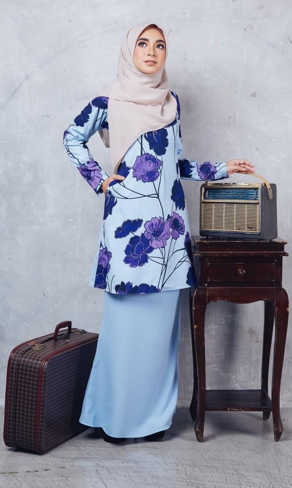 Baju Kurung Moden Casilda01 Light Blue 17