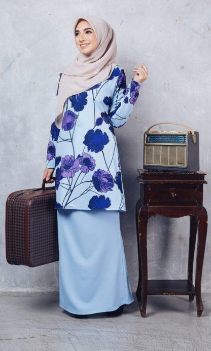 Baju Kurung Moden Casilda01 Light Blue 5