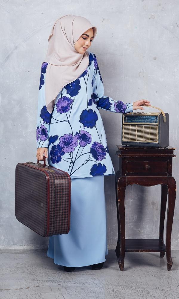 Baju Kurung Moden Casilda01 Light Blue 21