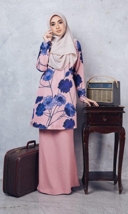 Baju Kurung Batik Casilda02 Light Pink 1
