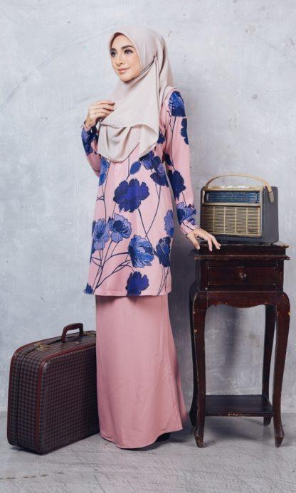 Baju Kurung Batik Casilda02 Light Pink 2