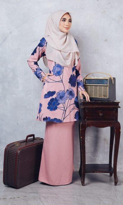 Baju Kurung Batik Casilda02 Light Pink 3